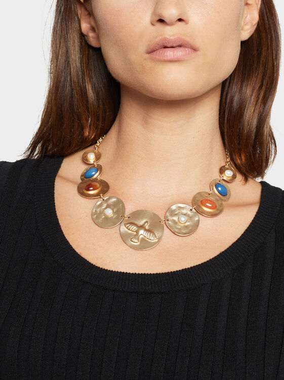 Zorba Short Necklace With Medallions, Multicolor, hi-res