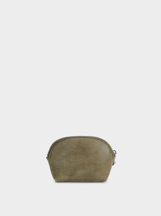 Small Embossed Wallet, Khaki, hi-res