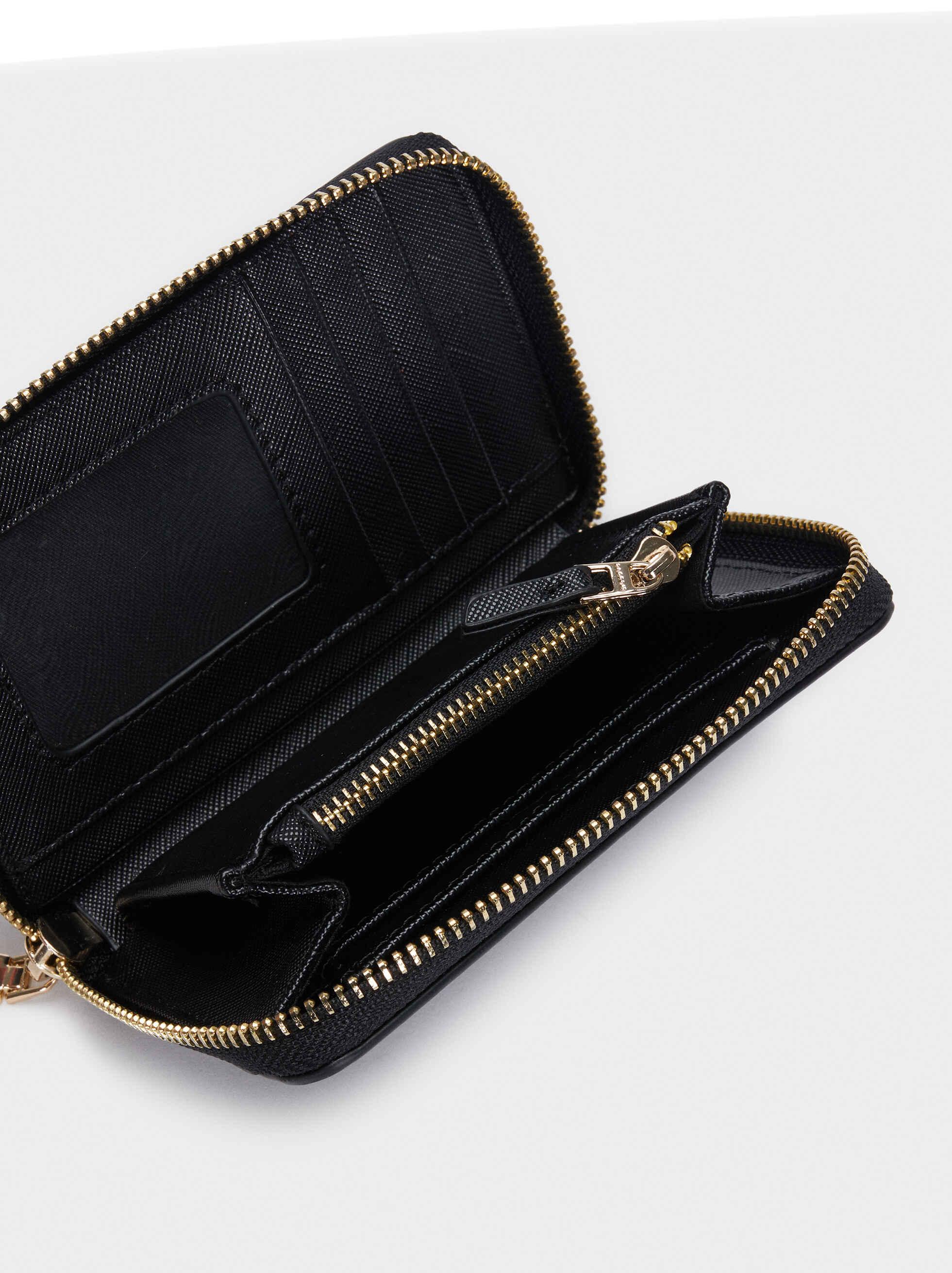 Zipped Purse, Black, hi-res