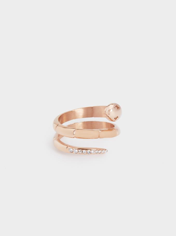 Stainless Steel Snake Ring, Orange, hi-res
