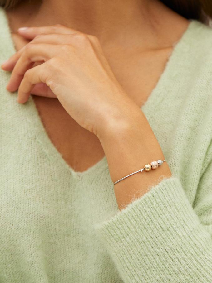 Bracelet Réglable Argenté, Argent, hi-res
