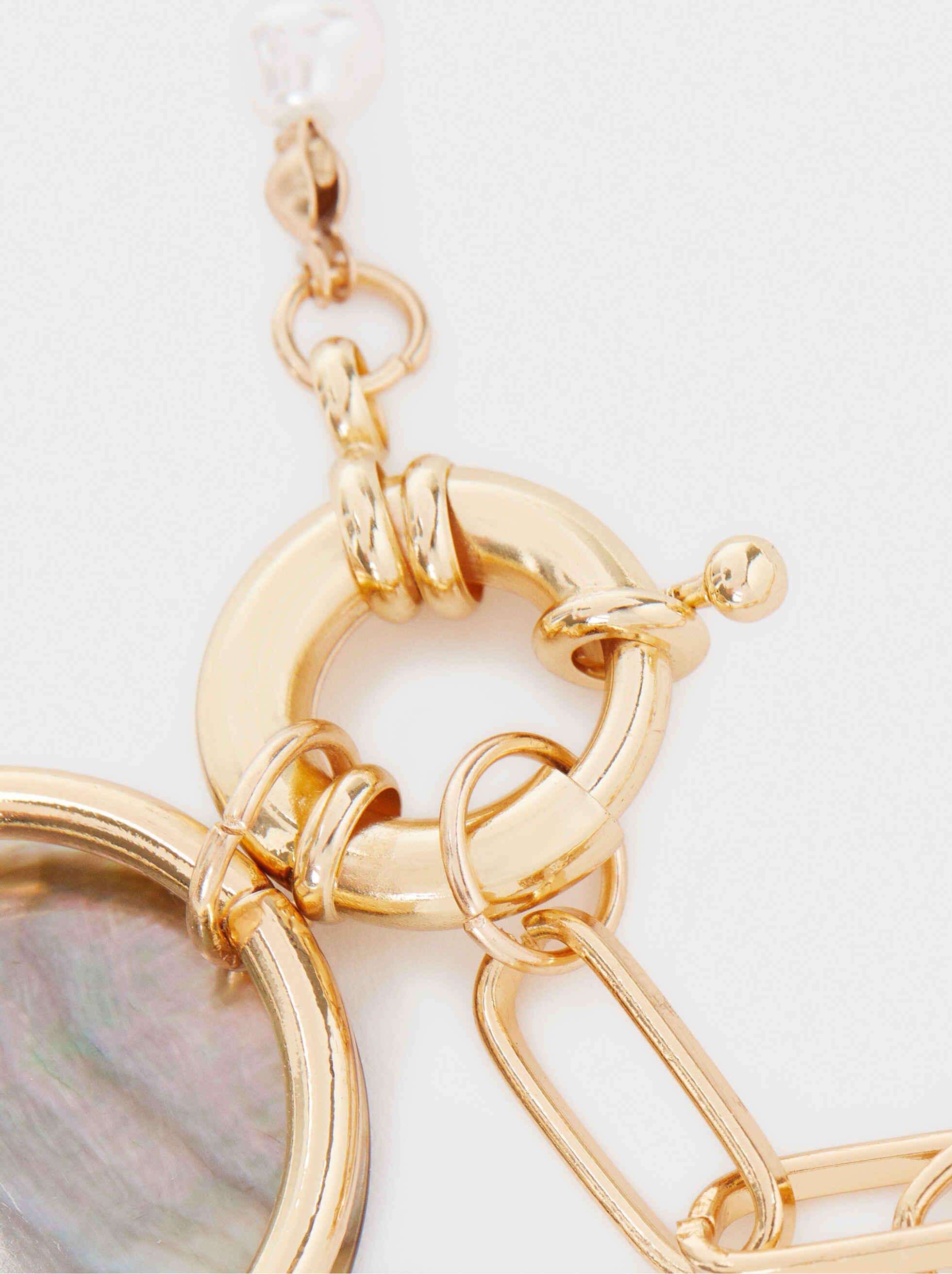 Short Gold Necklace, Golden, hi-res
