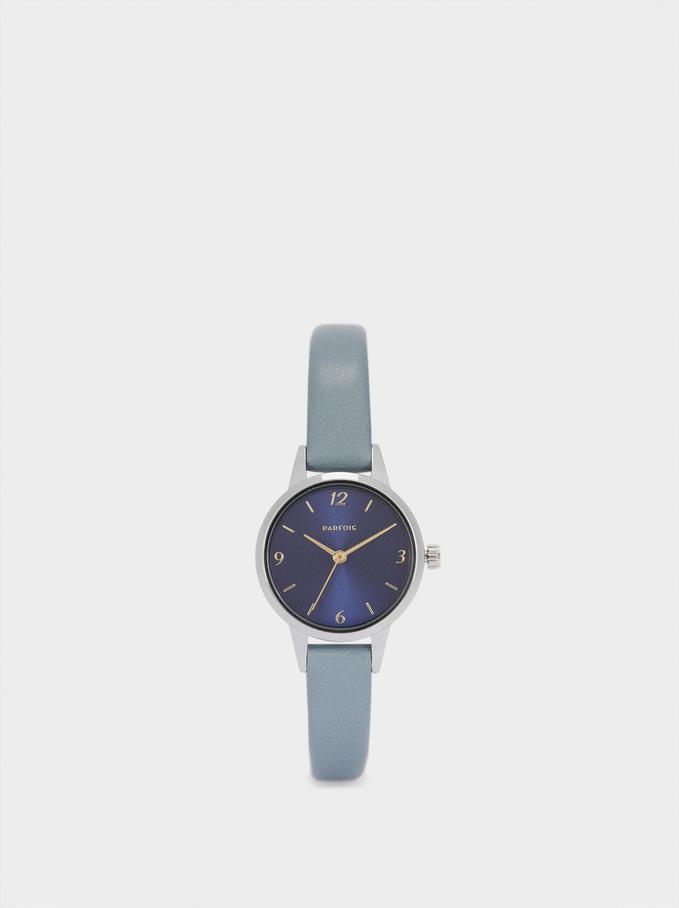 Reloj Esfera A Contraste, Azul, hi-res