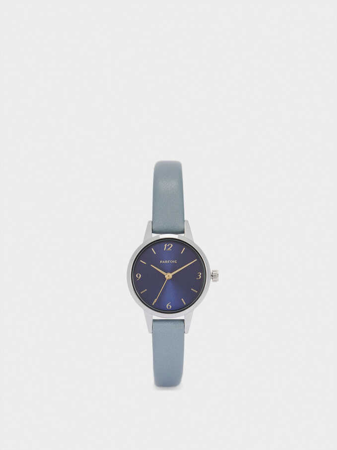 Watch With Contrasting Face, Blue, hi-res