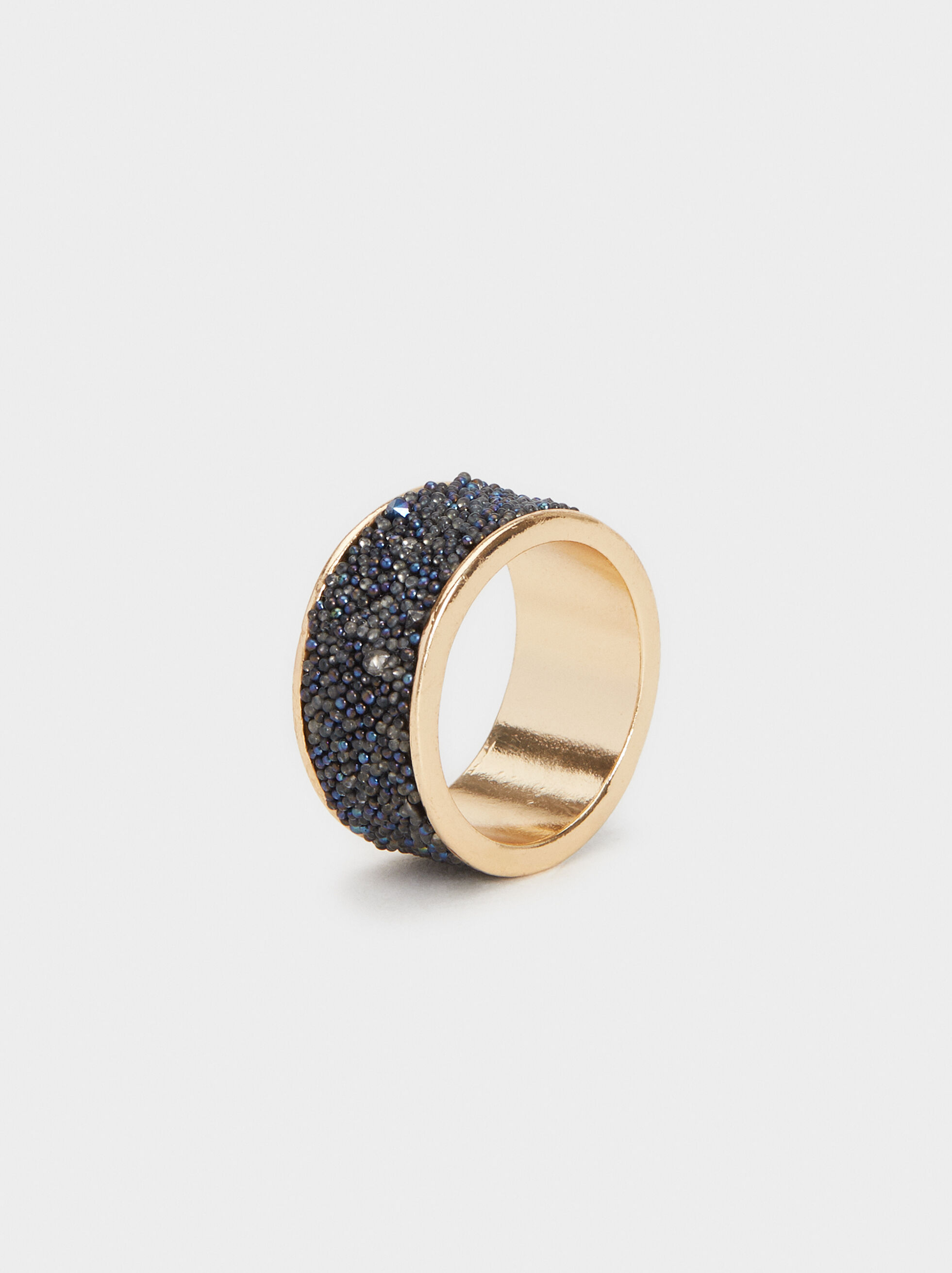 Savage Sparkle Ring, Blue, hi-res