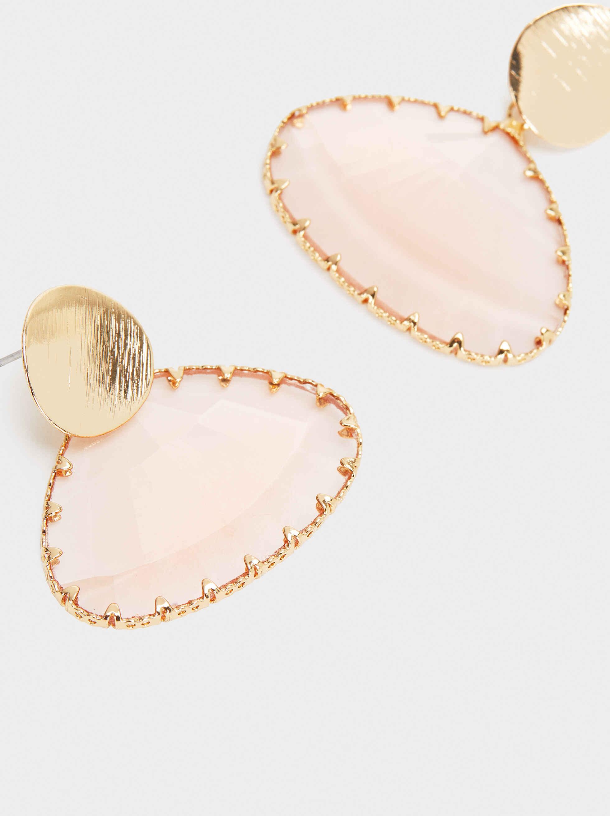 Pendientes Medianos Cristal Rosados, Multicor, hi-res