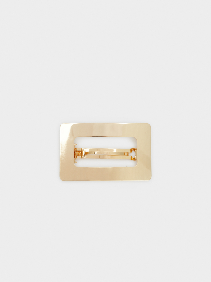 Gold Hair Clip, Golden, hi-res
