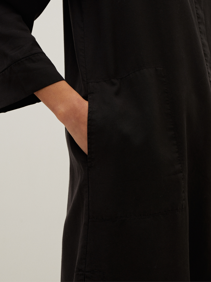 Vestido Camisero 100% Lyocell, Gris, hi-res