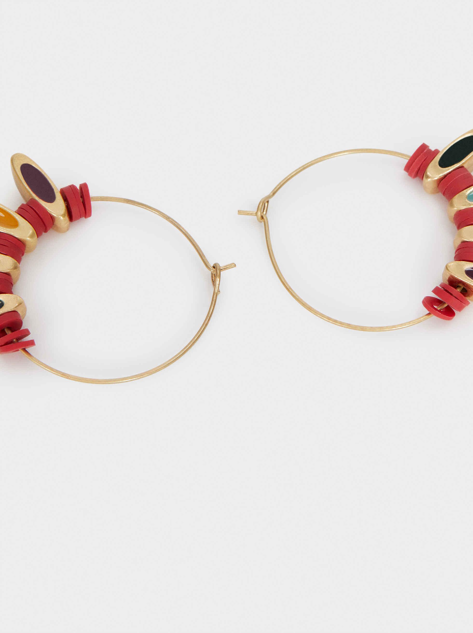 Medium Multicoloured Earrings, Multicolor, hi-res