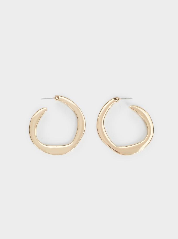 Hoop Fever Medium Hoop Earrings, Golden, hi-res
