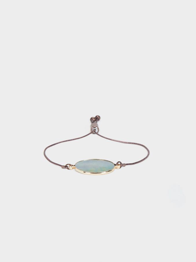 Blog Adjustable Bracelet, Brown, hi-res