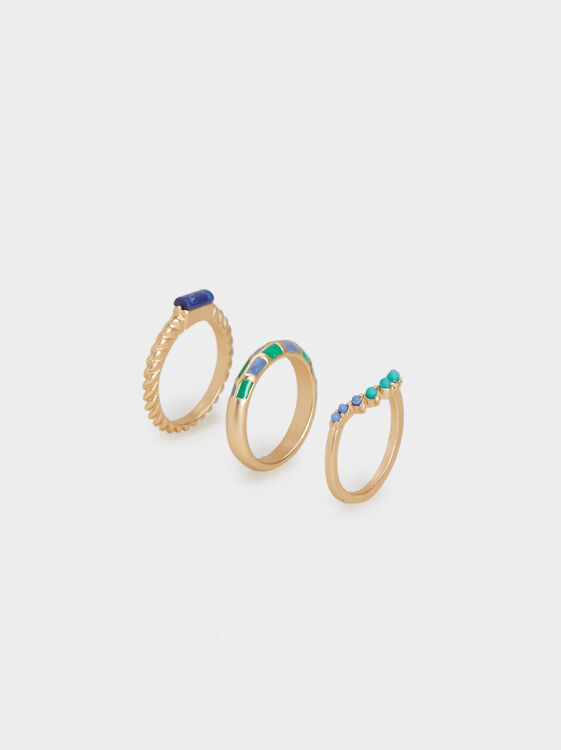 Zorba Set Of Rings With Stone, , hi-res