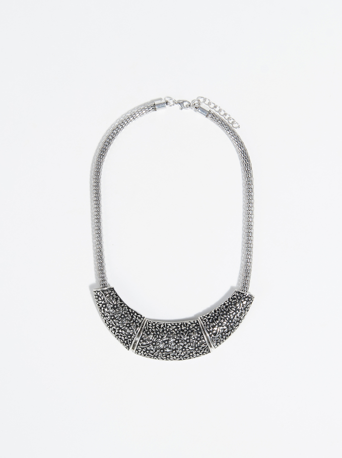 Silver Basics Short Necklace, Silver, hi-res