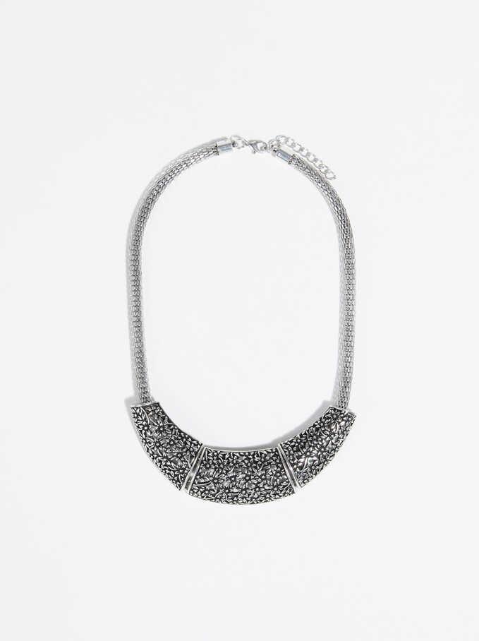 Collar Corto Silver Basics, Plateado, hi-res