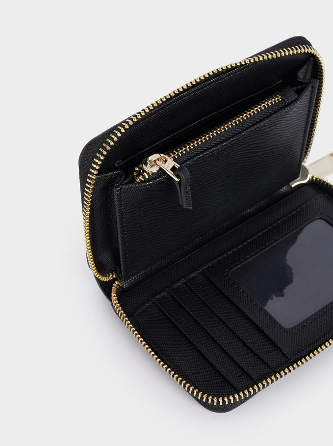Large Plain Wallet, Black, hi-res