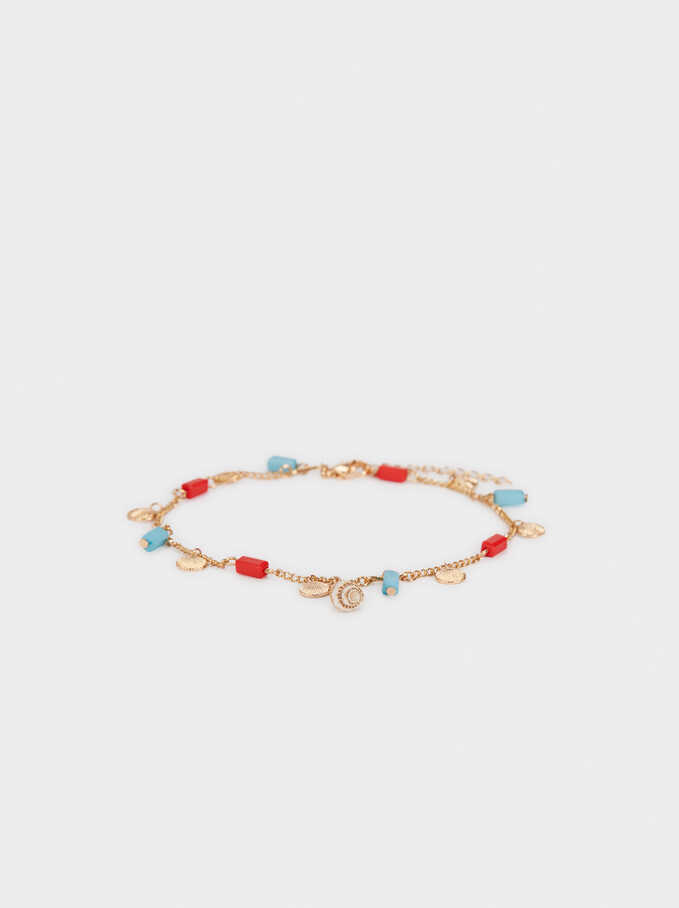 Bracelet With Beads And Shells, Multicolor, hi-res