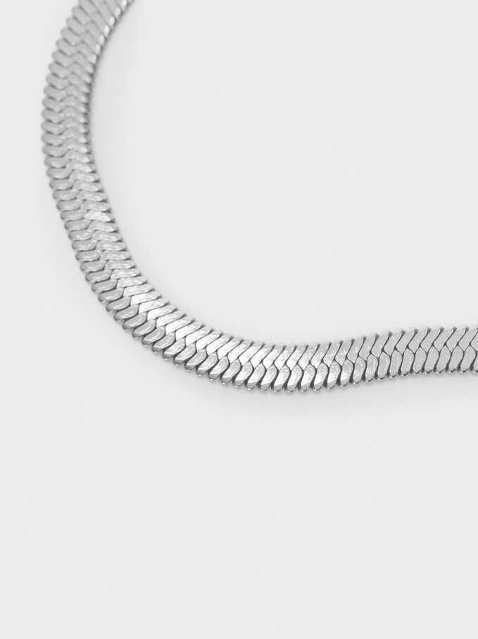 Stainless Steel Silver Bracelet, Silver, hi-res