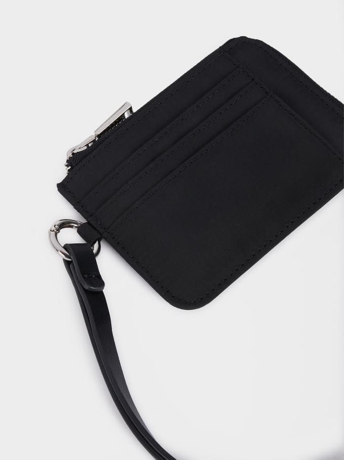Nylon Card Holder, Black, hi-res