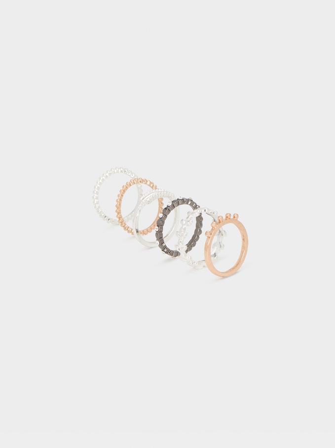 Set Of Multicoloured Rings, Multicolor, hi-res