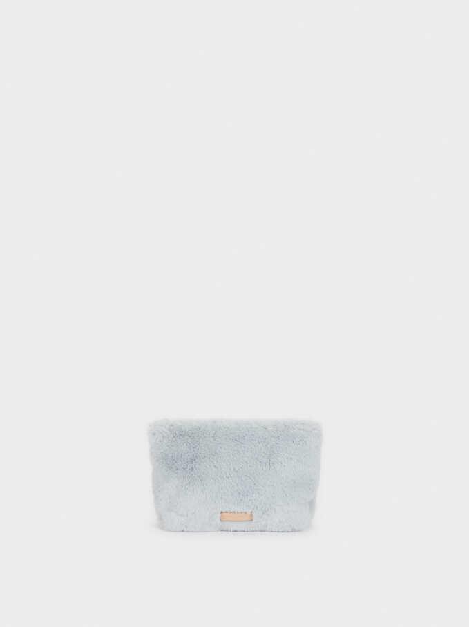 Fake Fur Multi-Purpose Bag, Blue, hi-res