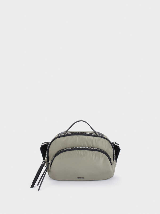 Nylon Crossbody Bag, Khaki, hi-res