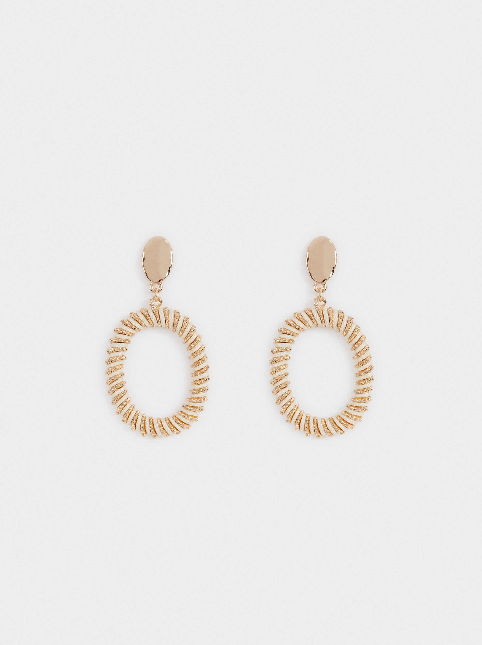 Sea Breeze Medium Earrings , Ecru, hi-res