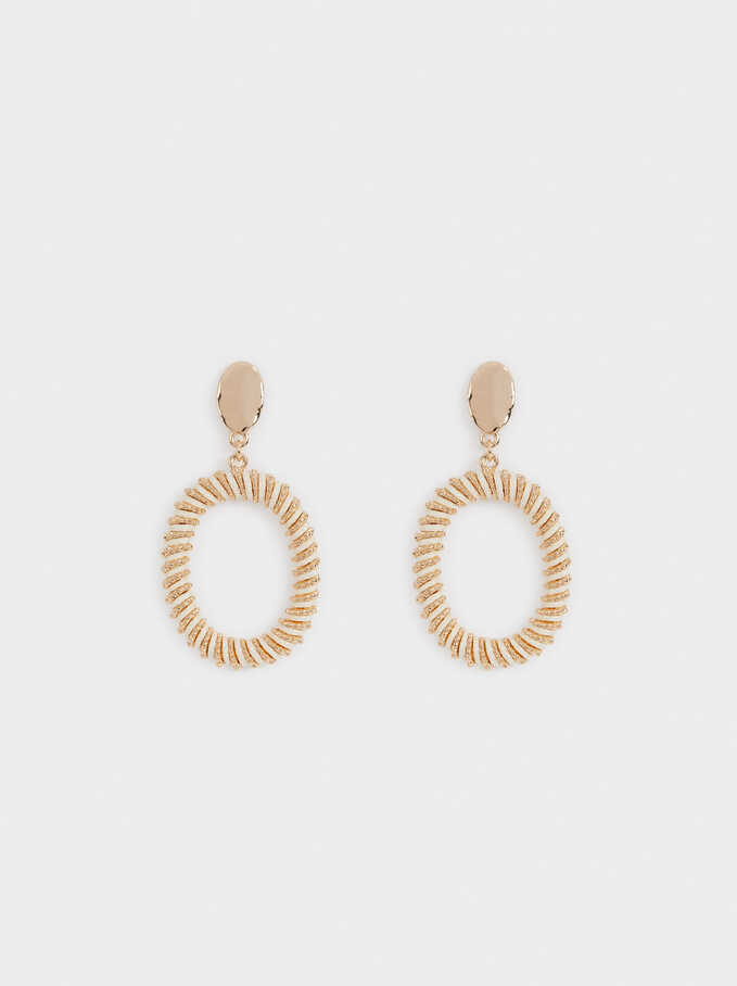 Intertwining Earrings, Ecru, hi-res