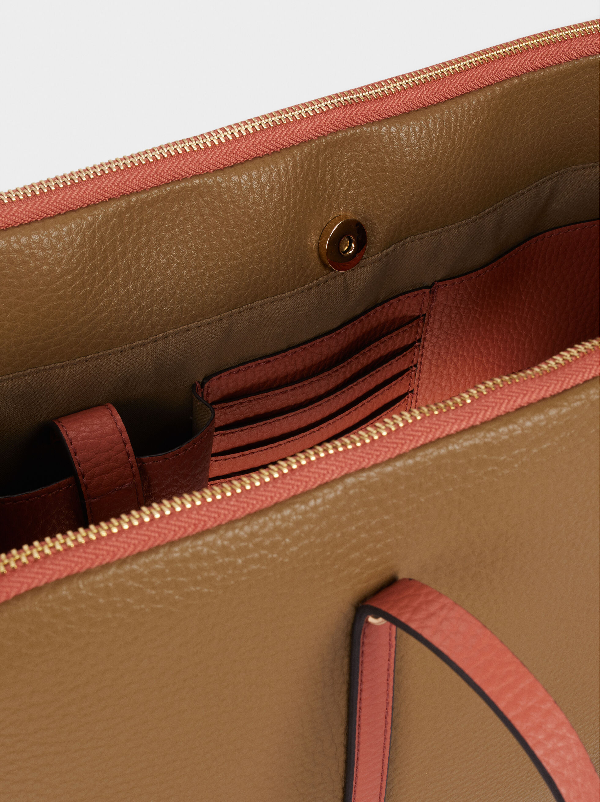 Briefcase With Charm, Khaki, hi-res