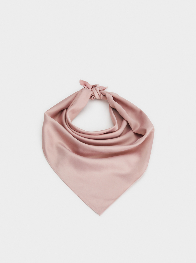 Plain Handkerchief Headband, Pink, hi-res