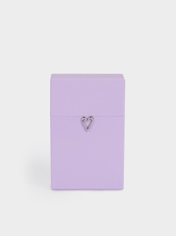 Heart Face Mask Holder, Violet, hi-res