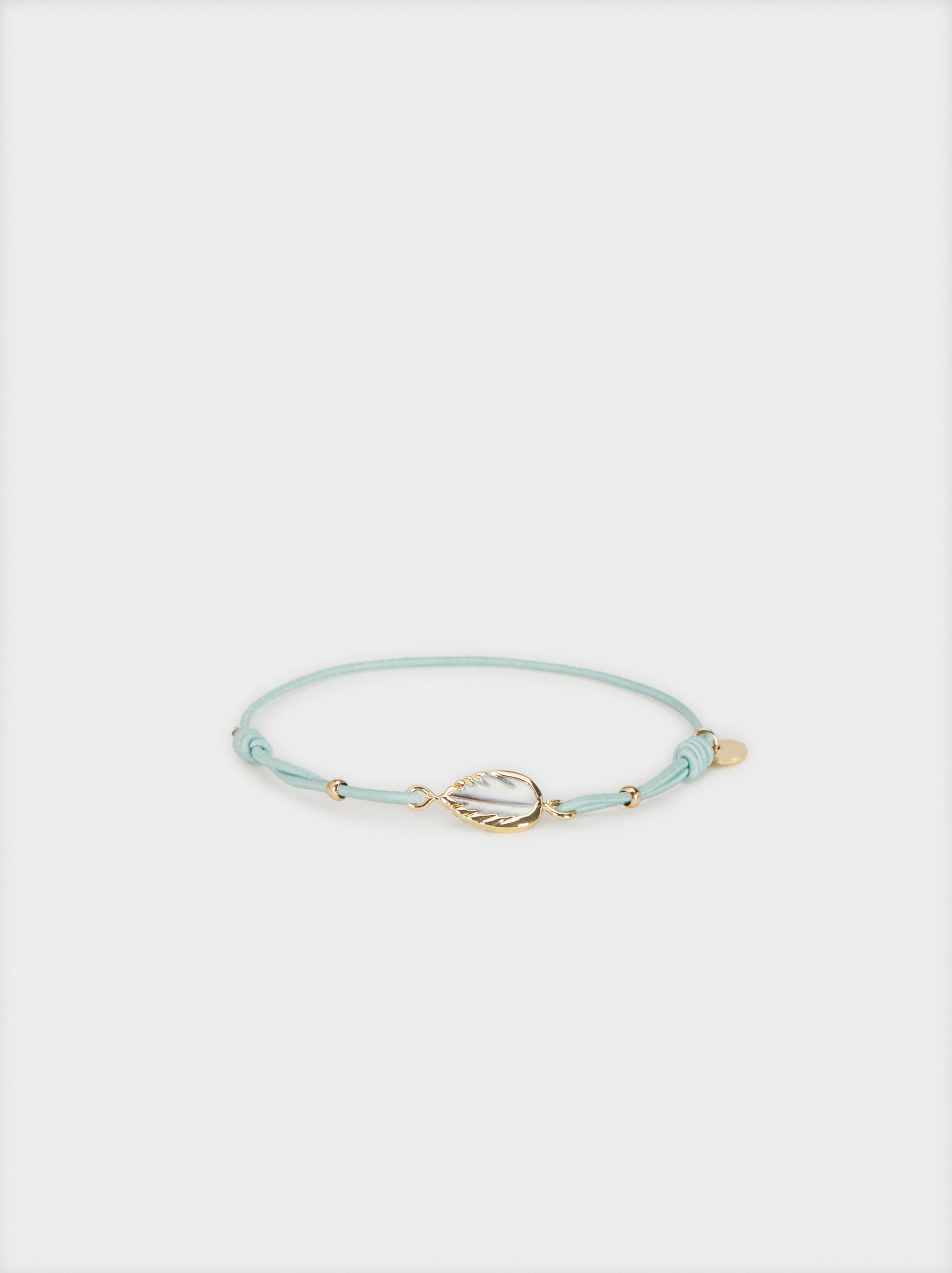 Elastic Bracelet With Stone, Green, hi-res