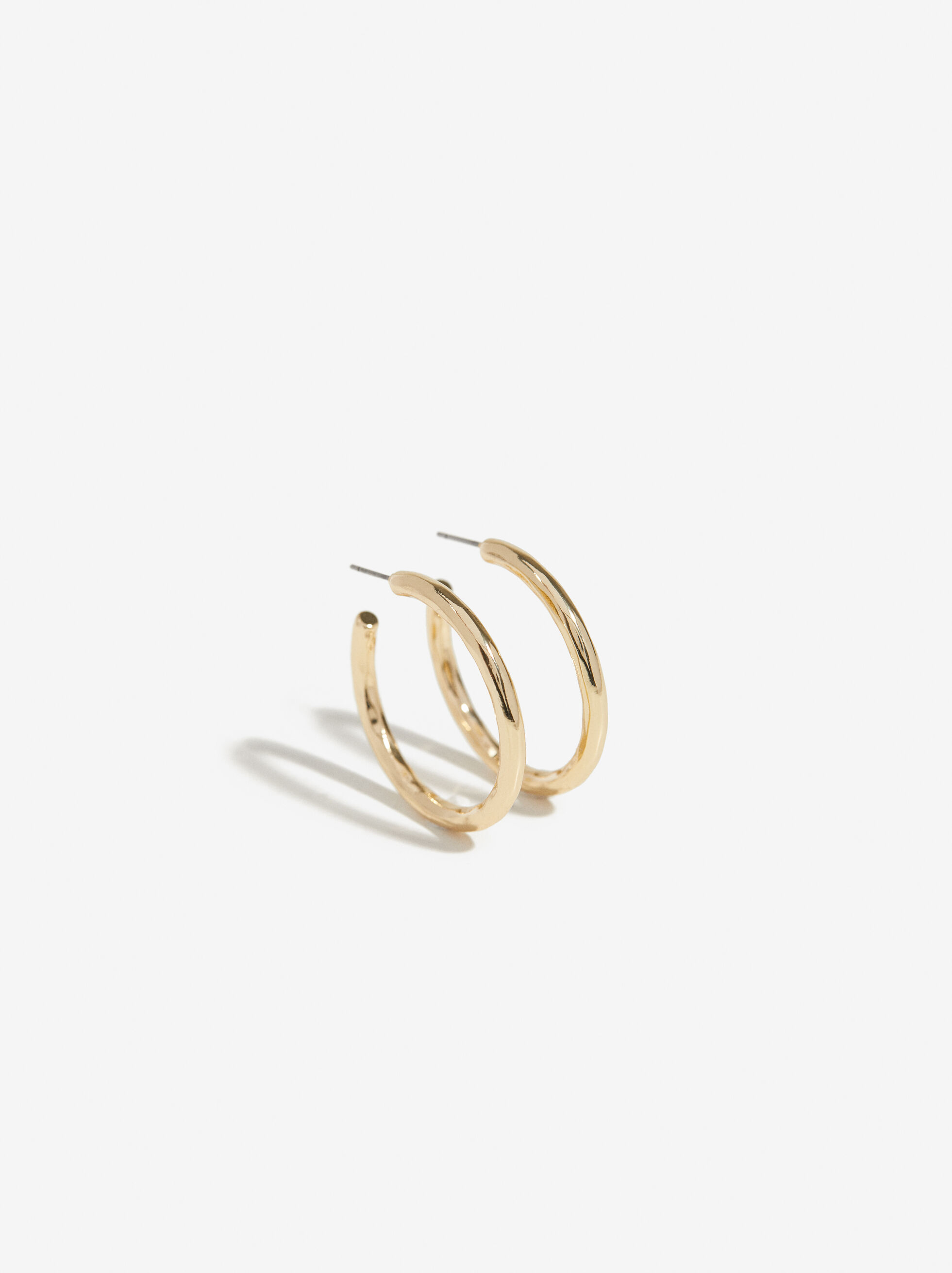 Golden Basics Grandes Hoop-Earrings, , hi-res