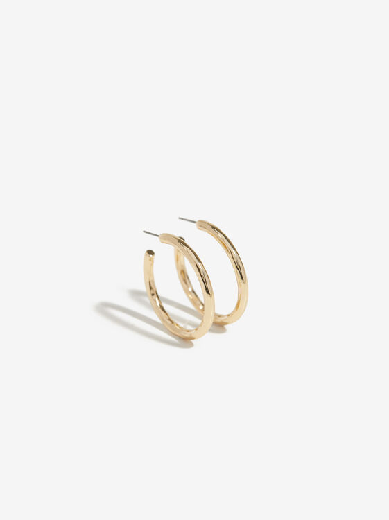 Golden Basics Grandes Hoop-Earrings, , hi-res