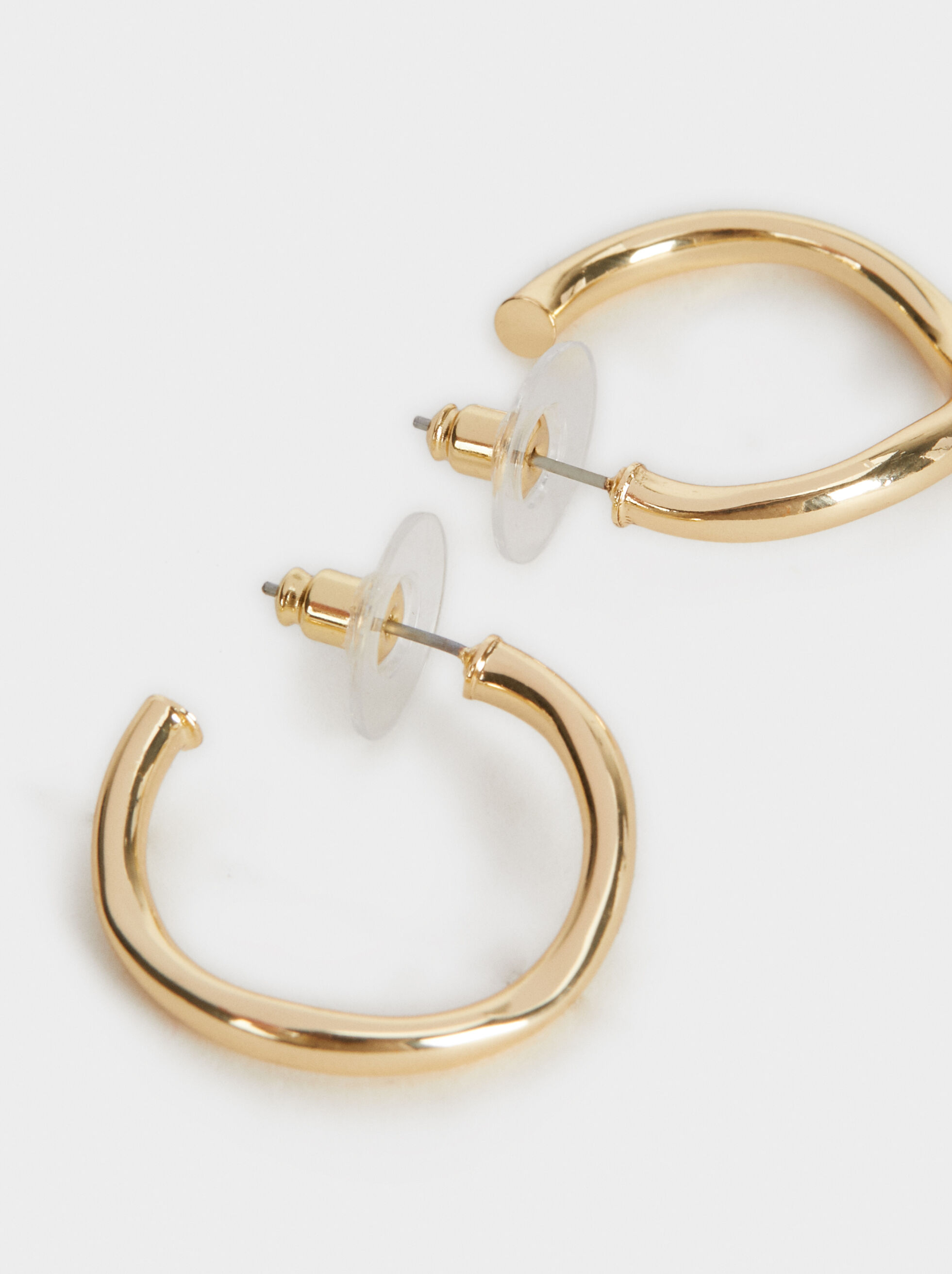 Small Golden Basics Hoop Earrings, Golden, hi-res