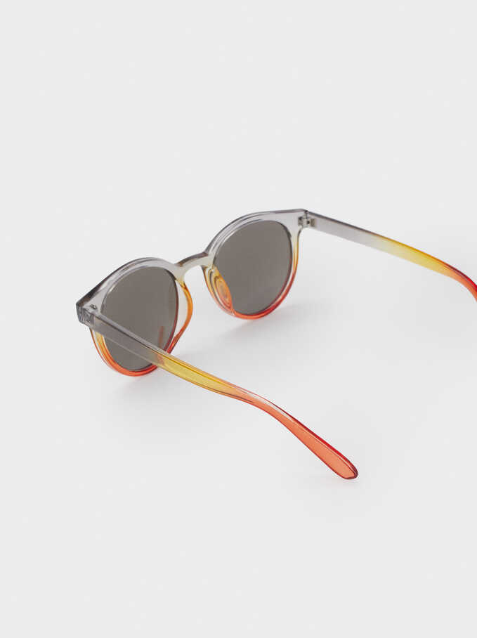 Round Resin Sunglasses, Multicolor, hi-res