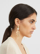Creme Long Earrings, Pink, hi-res
