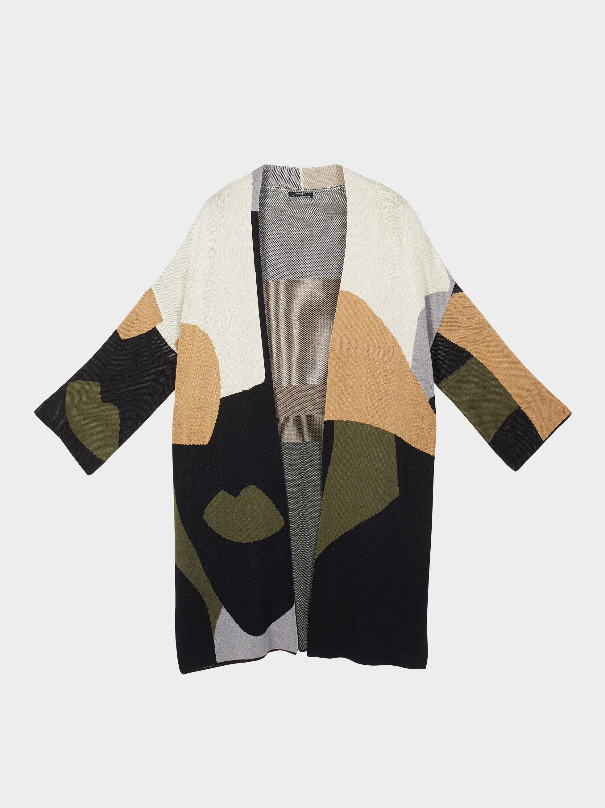 Printed Kimono, Multicolor, hi-res