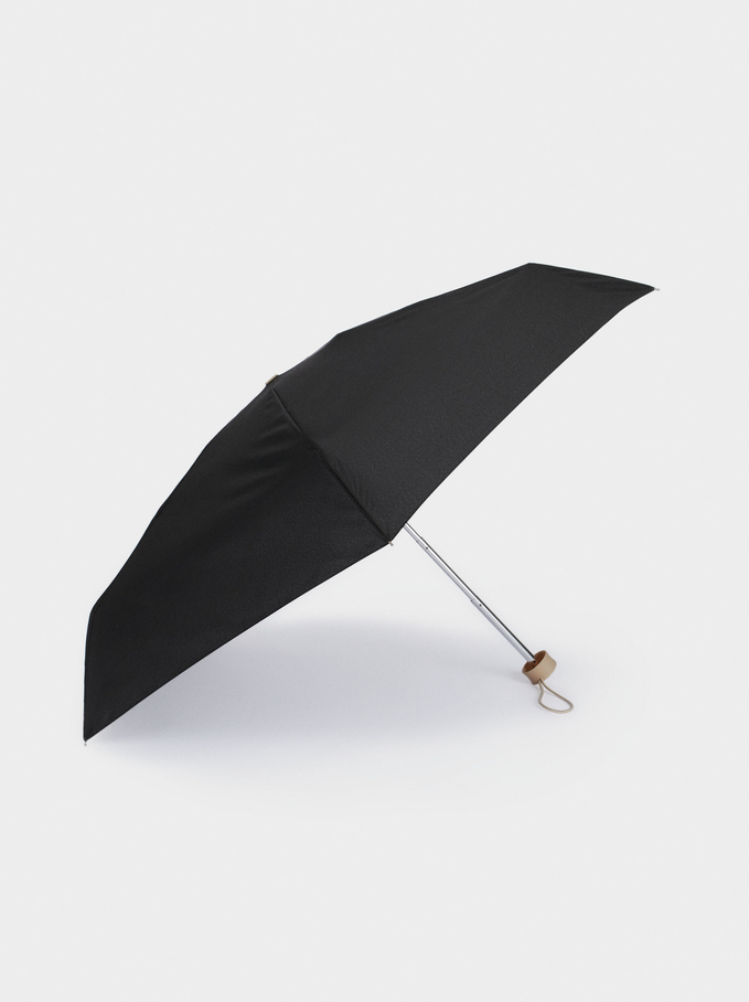 Basic Folding Umbrella, Black, hi-res