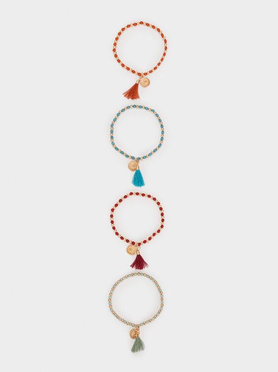 Cherry Blossom Set Of Stretch Bracelets, Multicolor, hi-res