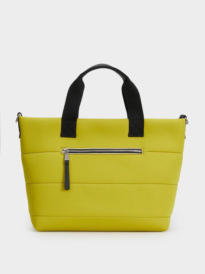 Neoprene Tote Bag, Yellow, hi-res