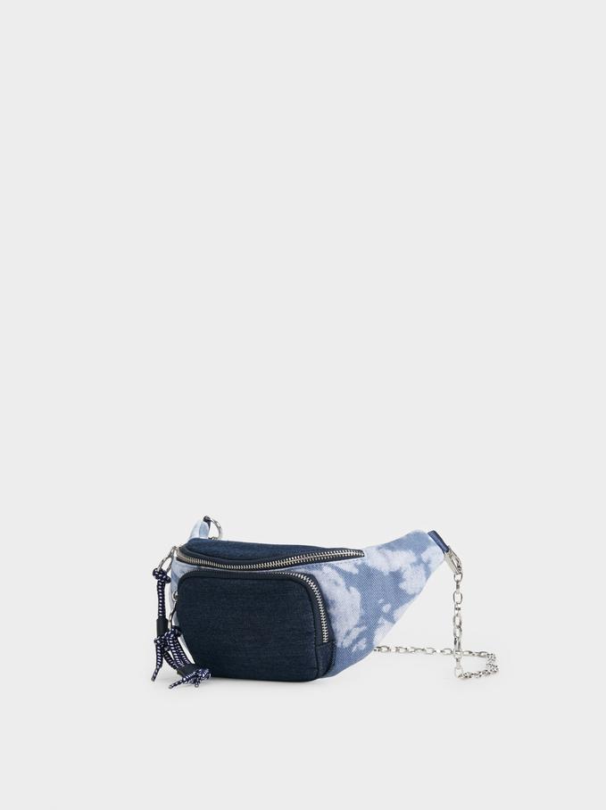 Tie-Dye Belt Bag, Blue, hi-res