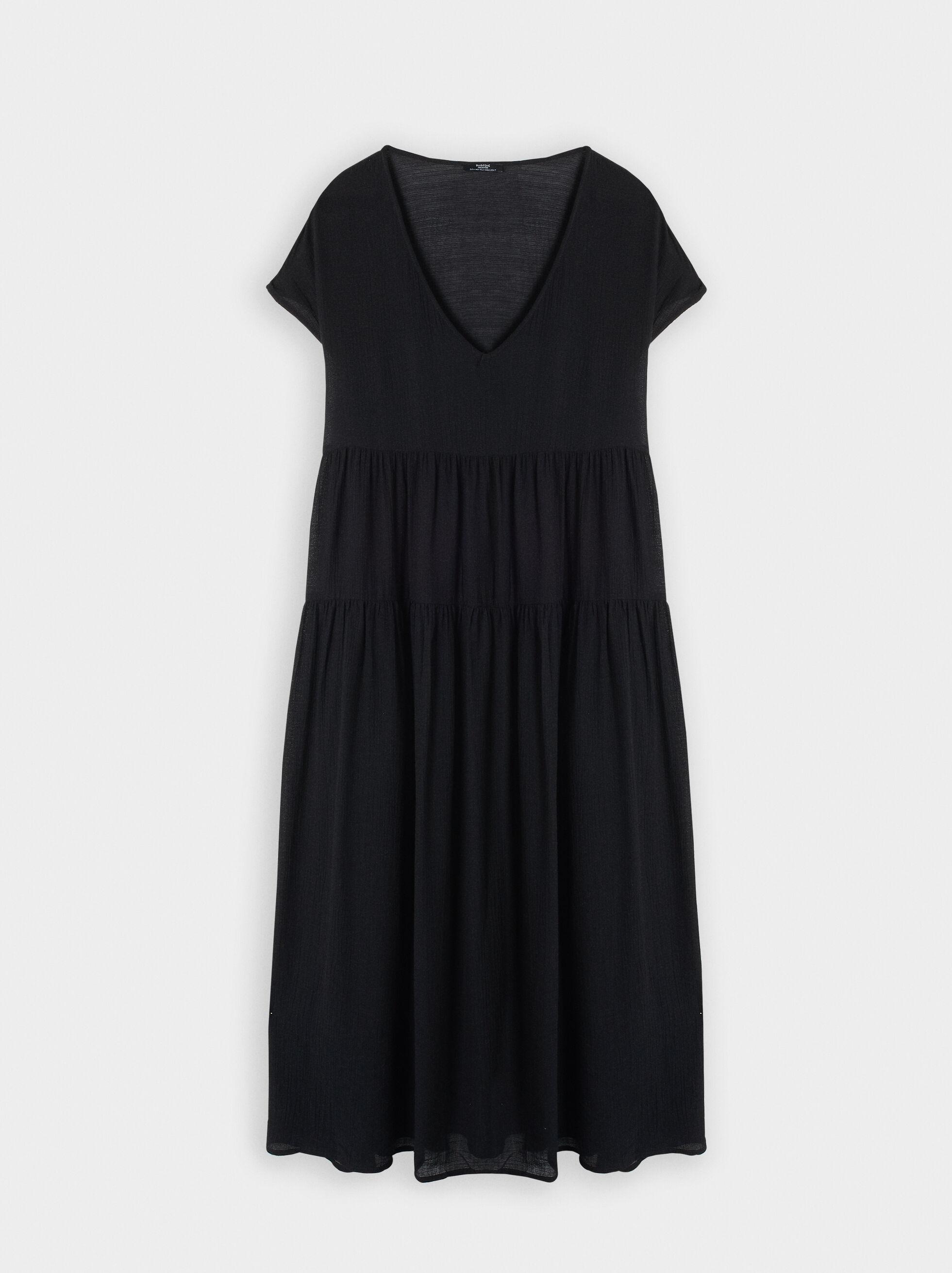 Dress With V-Neckline, , hi-res