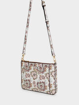Printed Shoulder Bag, Pink, hi-res