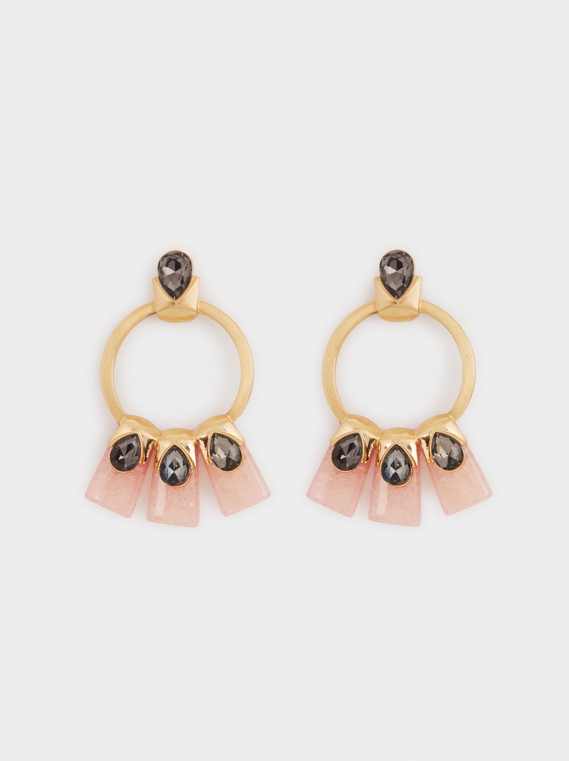 Boucles D'Oreilles Longues Exclusive Collection, Rose, hi-res