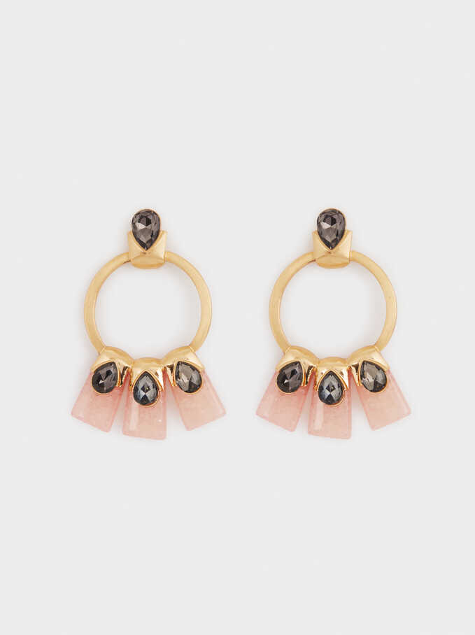 Pendientes Largos Exclusive Collection, Rosa, hi-res
