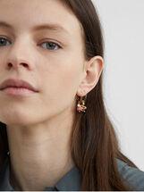 Set Of Petrified Hoop Earrings, Multicolor, hi-res