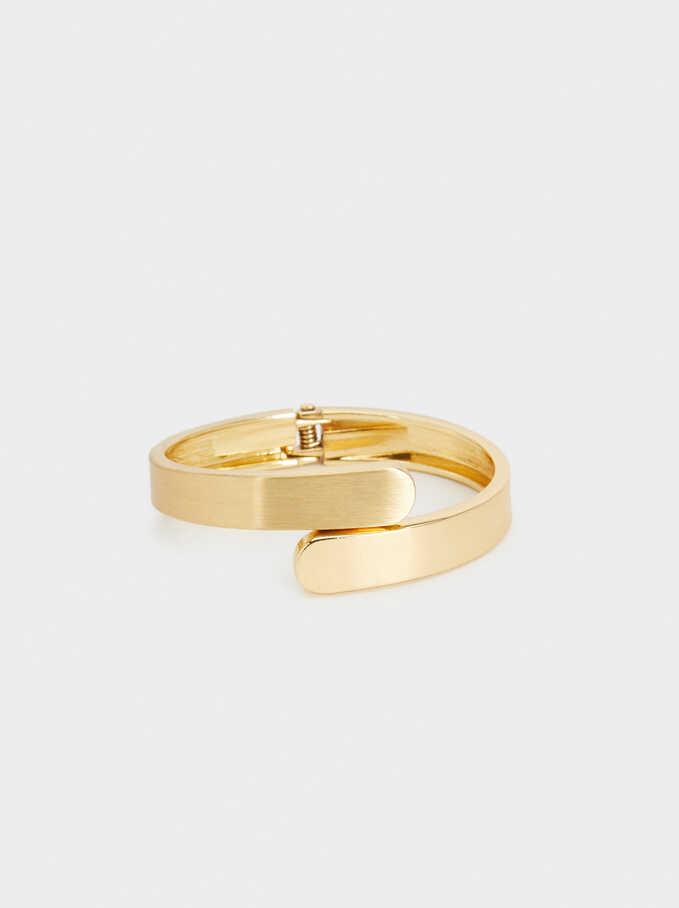 Rigid Gold Bracelet, Golden, hi-res