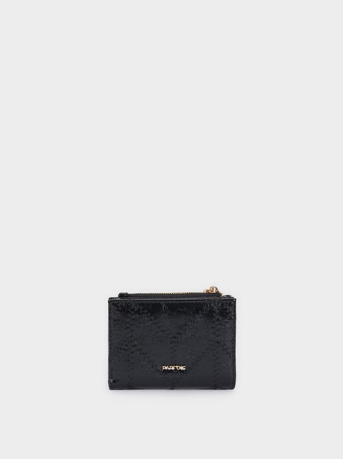 Compact Zipped Purse, Black, hi-res