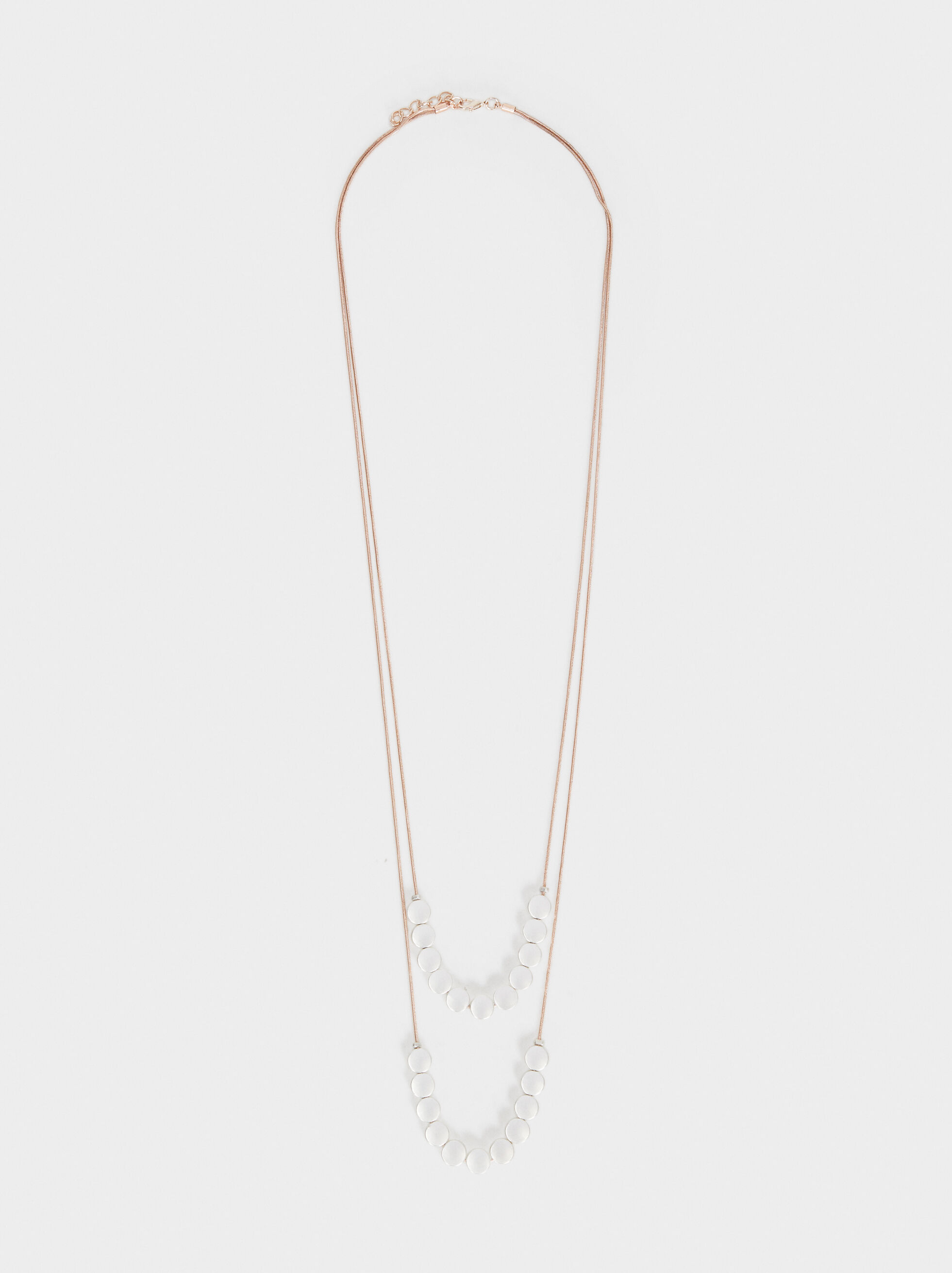 Long Double Necklace, Multicolor, hi-res