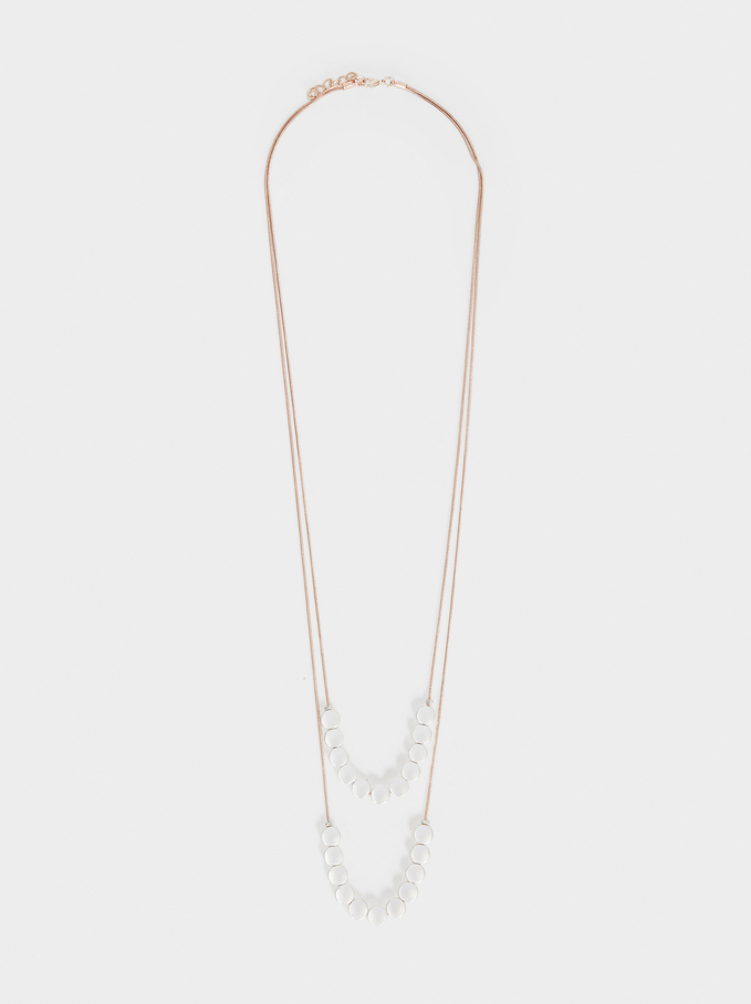 Long Double Necklace, Multicolor, hi-res